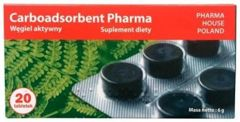 Carboadsorbent 250mg x 20 tabletek