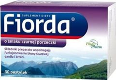 FIORDA x 30 pastylek o smaku czarnej porzeczki