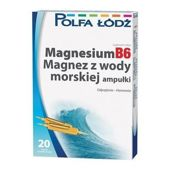 MAGNESIUMB6 Magnez z wody morskiej 10ml x 20 ampułek