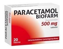 PARACETAMOL BIOFARM x 20 tabletek