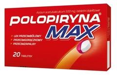 POLOPIRYNA MAX 0,5g x 20 tabletek dojelitowych