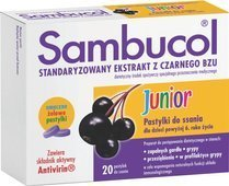 SAMBUCOL JUNIOR x 20 pastylek do ssania