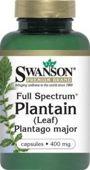 SWANSON Full Spectrum Plantain (Babka zwyczajna) 400mg x 60 kapsułek