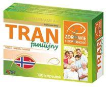 TRAN FAMILIJNY z witaminami A+D x 120 kapsułek
