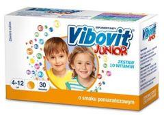 VIBOVIT Junior x 30 saszetek - pomarańczowy - data ważności 30-07-2017r.