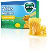 VICKS MedDex o smaku miodu na kaszel suchy x 12 pastylek