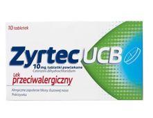 ZYRTEC UCB x 7 tabletek