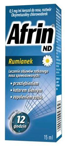 AFRIN ND Rumianek aerozol 0,5mg/ml 15ml
