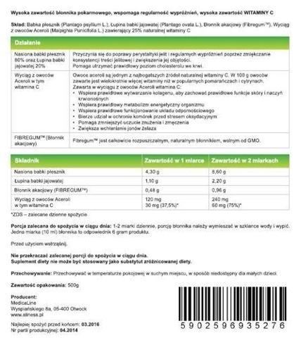 ALINESS Błonnik Witalny Plus Acerola i Fibregum 500g