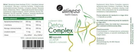 ALINESS Detox Complex x 60 kapsułek