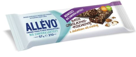 ALLEVO Baton czekoladowo-migdałowy 57g