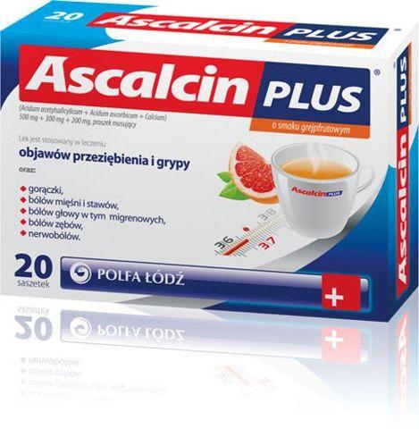 ASCALCIN Plus x 20 sasz. grejpfrutowy