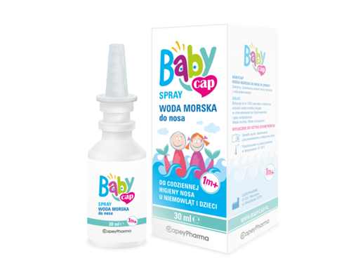 BABYCAP Woda morska do noska spray 30ml