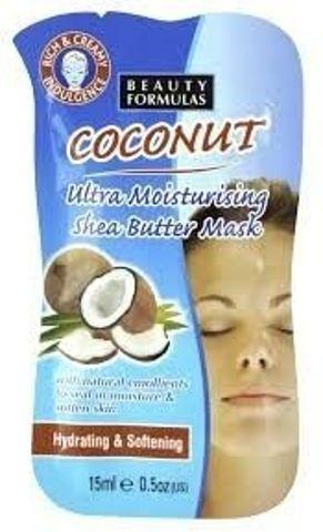 BEAUTY FORMULAS Maseczka kokosowa nawilżająca z masłem Shea 15ml