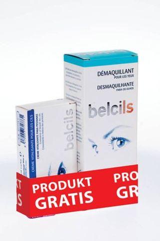 BELCILS Zestaw Żel do demakijażu oczu z azulenem 75ml + krem witalizujący do rzęs 4ml GRATIS