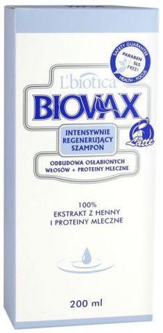 BIOVAX Szampon odbudowa osłabionych włosów Latte 200ml