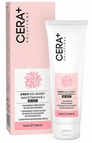 CERA+ Solutions Krem do skóry naczynkowej na noc 50ml