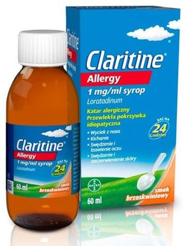 CLARITINE ALLERGY 1mg/ml syrop 60ml