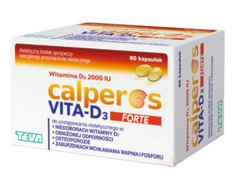 Calperos Vita-D3 forte x 60 kapsułek