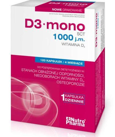 D3 mono 1000 j.m. x 120 kapsułek