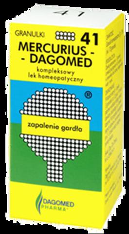 DAGOMED 41 Mercurius Zapalenie gardła granulki 7g