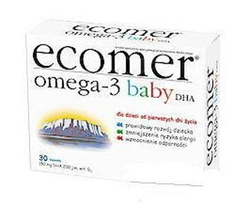 ECOMER OMEGA-3 BABY DHA x 30 kapsułek twist-off