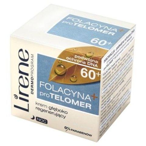 ERIS Lirene Folacyna + pro TELOMER 60+ krem na noc 50ml