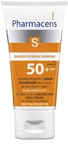 ERIS Pharmaceris S Hydrolipidowy krem ochronny do twarzy dla dorosłych i dzieci SPF50+ 50ml
