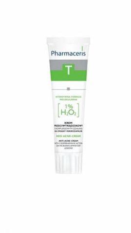 ERIS Pharmaceris T Medi Acne-Cream o kompleksowym działaniu na zmiany zapalne 1% H₂O₂ 30ml