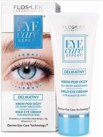 FLOSLEK EYE CARE Delikatny krem pod oczy do skóry wrażliwej 30ml