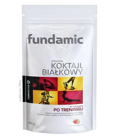 Fundamic odżywczy koktajl białkowy o smaku truskawkowym 300g