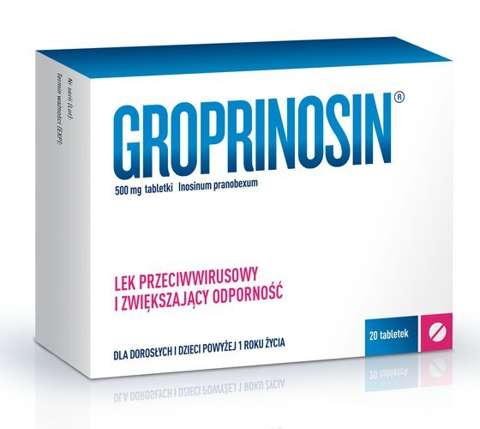 GROPRINOSIN 0,5g x 20 tabletek
