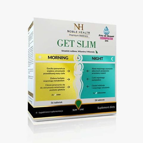 Get Slim Morning & Night  (56 tabletek na dzień + 28 tabletek na noc)