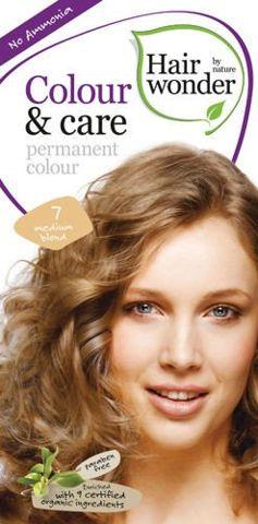 HAIRWONDER Colour & Care Farba do włosów 7-MEDIUM BLOND 100ml