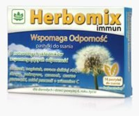 HERBOMIX IMMUN Wspomaga Odporność x 16 pastylek do ssania
