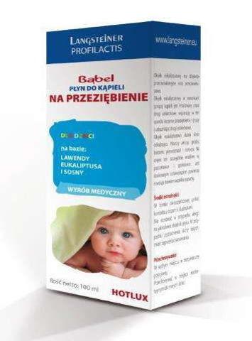 HOTLUX BĄBEL Płyn do kąpieli na przeziębienie dla dzieci 100ml