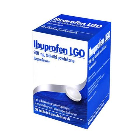 IBUPROFEN LGO 200mg x 60 tabletki powlekane pojemnik