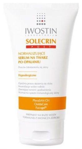 IWOSTIN Solecrin Post normalizujące serum po opalaniu na twarz 50ml - data ważności 30-06-2016r.