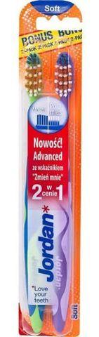 JORDAN ADVANCED Szczoteczka do zębów soft 2 w cenie 1