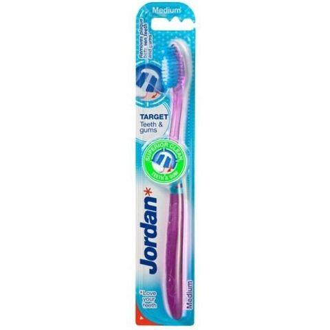 JORDAN TARGET TEETH & GUMS MEDIUM Szczoteczka do zębów x 1 sztuka