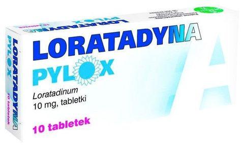LORATADYNA Pylox 10mg x 10 tabletek