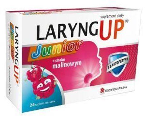 Laryng Up Junior o smaku malinowym x 24 tabletki do ssania
