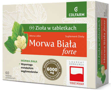 MORWA BIAŁA FORTE x 60 tabletek