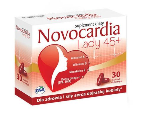 NOVOCARDIA LADY 45+ x 30 kapsułek