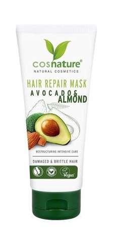 Naturalna regenerująca maska do włosów z awokado i migdałami 100ml
