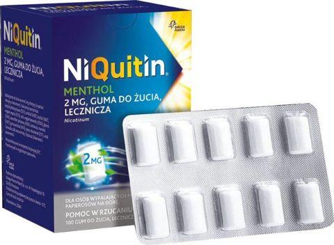 NiQuitin Menthol guma do żucia 2mg x 100 sztuk
