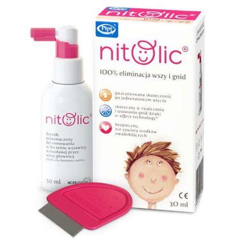 Pipi Nitolic zestaw spray 30ml z grzebieniem