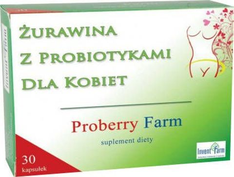 Proberry Farm Żurawina z probiotykami dla kobiet x 30 kapsułek