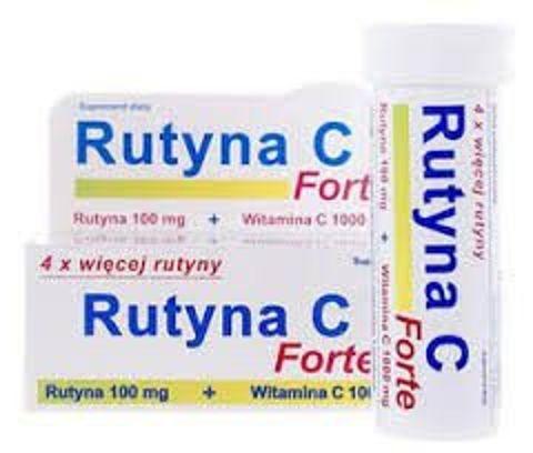 RUTYNA C FORTE smak pomarańczowy x 10 tabletek musujących