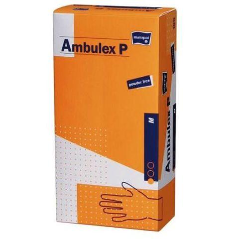 Rękawice Ambulex Lateks niejałowe niepudrowane rozmiar M x 100 sztuk